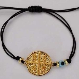 Bracelet Gold plated Constantinato with MATI